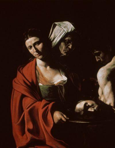 Caravaggio Salomè con la testa di Battista Madrid